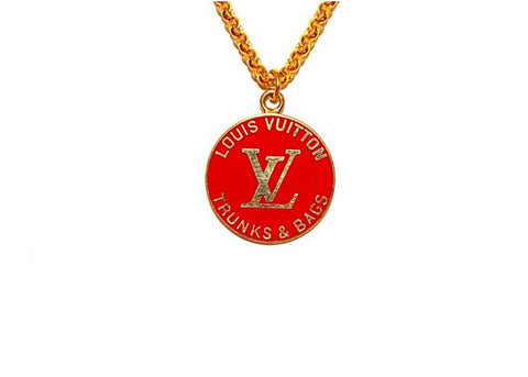 Louis Vuitton Red Trunks & Bags Necklace