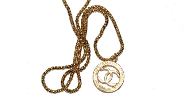 Chanel Large CC Logo Necklace