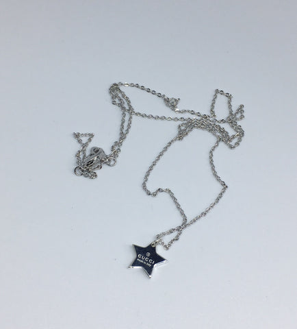Gucci Silver Mini Star Pendant Necklace