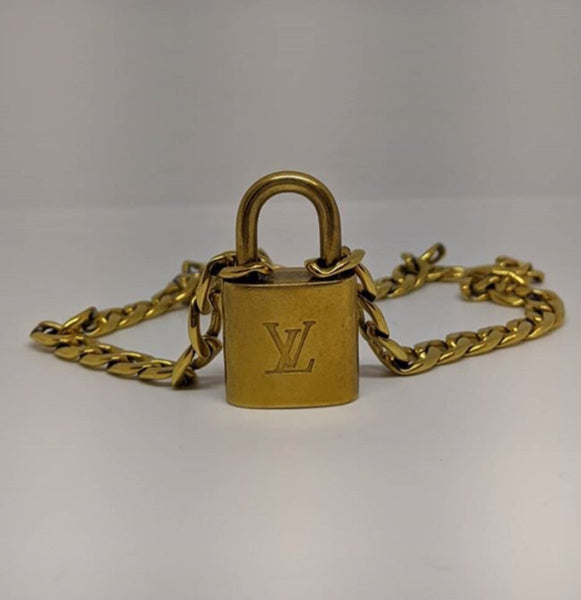 Louis Vuitton Classic Gold LV Lock Necklace