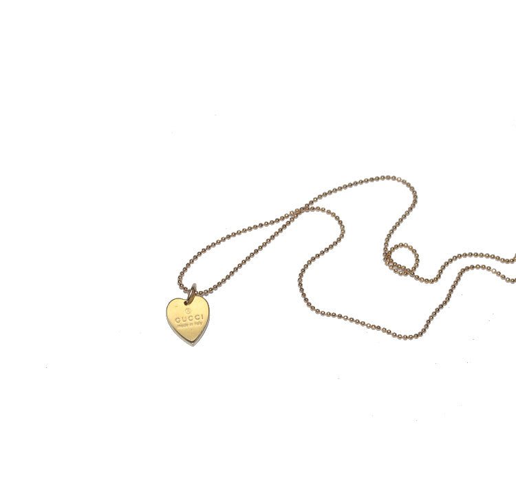 Gucci Gold Mini Heart Pendant Necklace