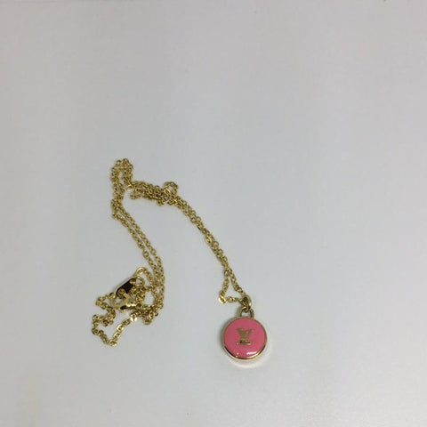 Louis Vuitton Small Pink LV Necklace