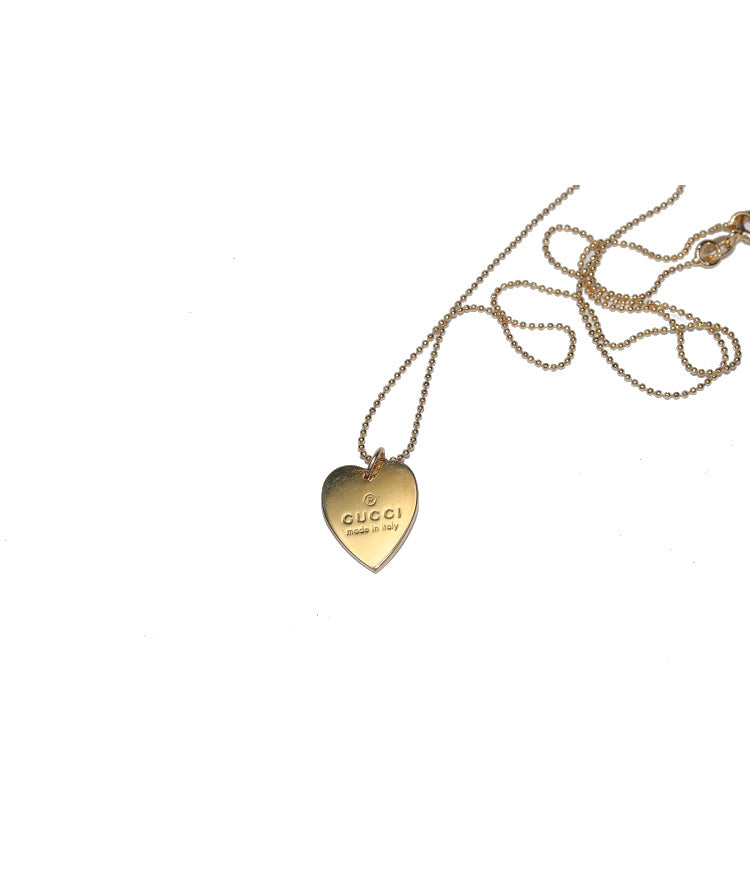 Gucci Gold Small Heart Pendant Necklace
