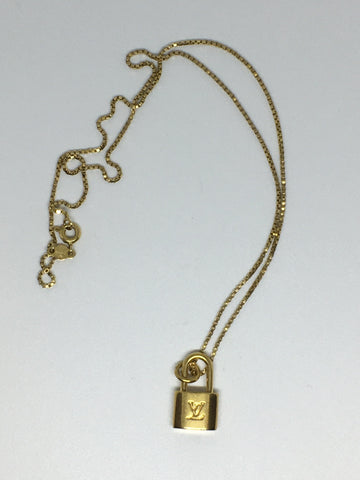 Louis Vuitton Mini Lock Necklace