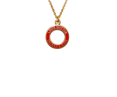 Louis Vuitton Red Circle Necklace