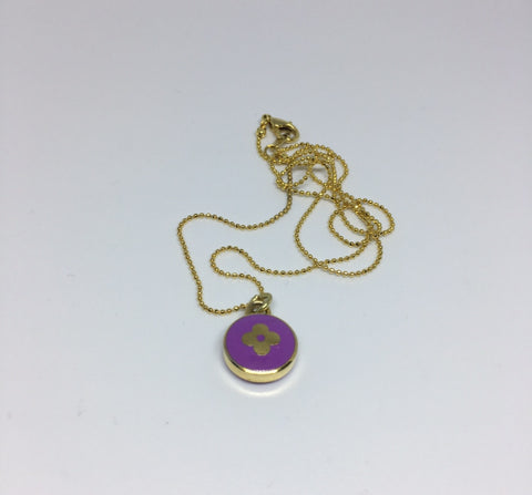 Louis Vuitton Small Dark Purple Flower Necklace