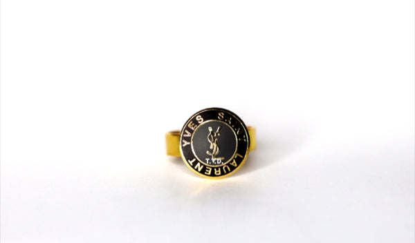 YSL Logo Ring Small