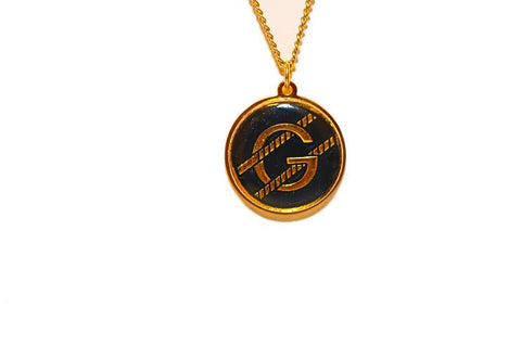 Gucci Gold And Black Pendant Necklace