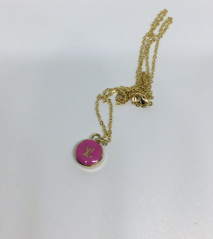 Louis Vuitton Small Fuchsia LV Necklace