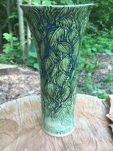 Leaf Pattern on Vase (rear view)
