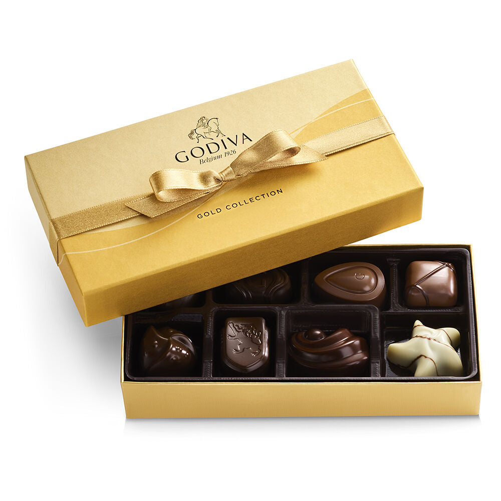 ASSORTED CHOCOLATE GOLD GIFT BOX 8 pcs