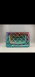 Chanel 20A Mermaid Reissue Wallet on Chain w/ Shiny Gold Hardware