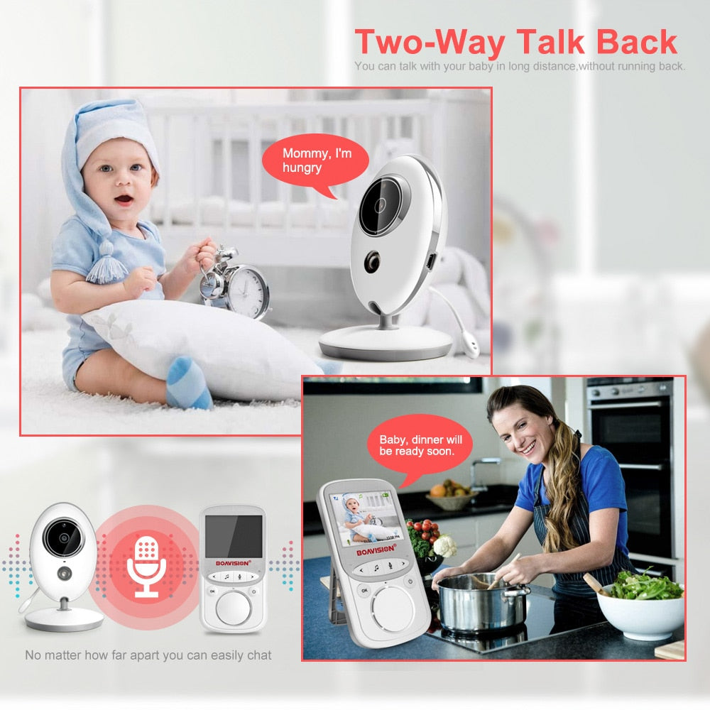 Portable Wireless LCD Audio Video Baby Monitor Camera