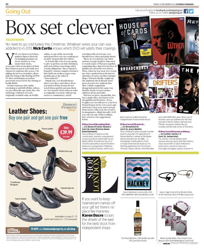 Evening Standard | Friday 20 December 2013 | Alfred & Wilde