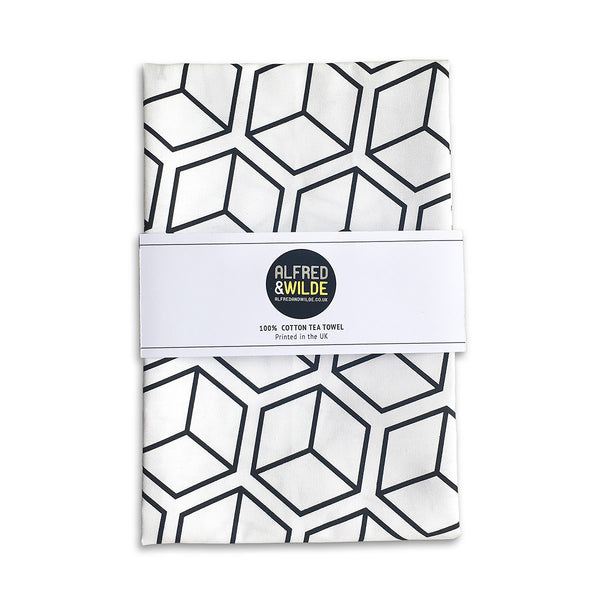 Cube tea towel