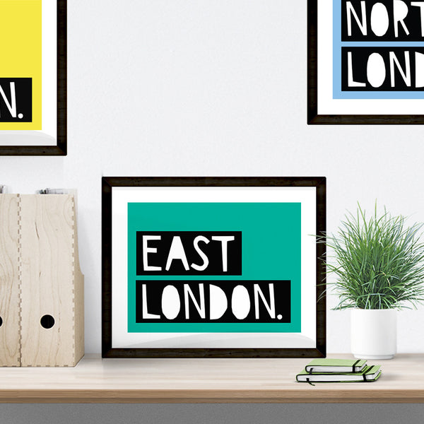 East London typographic print