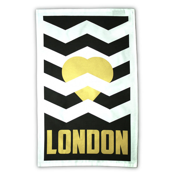 Heart London tea towel