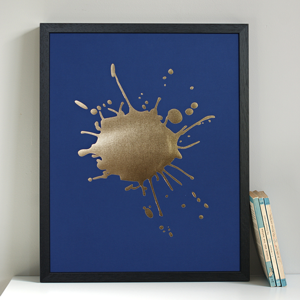 Ink Splash gold foil print