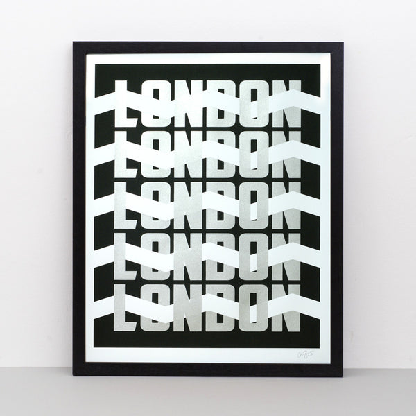 London Silver screen print