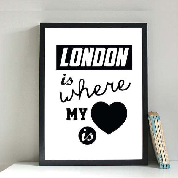 London Is Where My Heart Is print