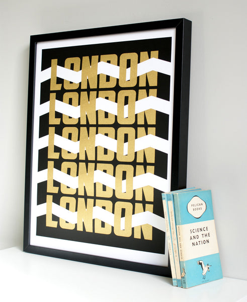 London Gold limited edition print