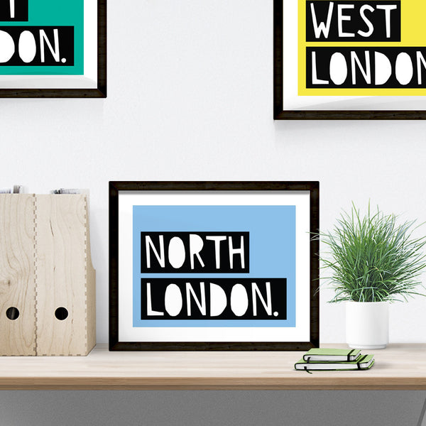 North London typographic print