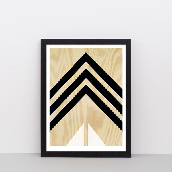 Plywood (black and white) print