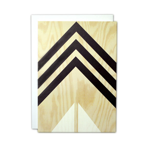 Plywood (black and white) card