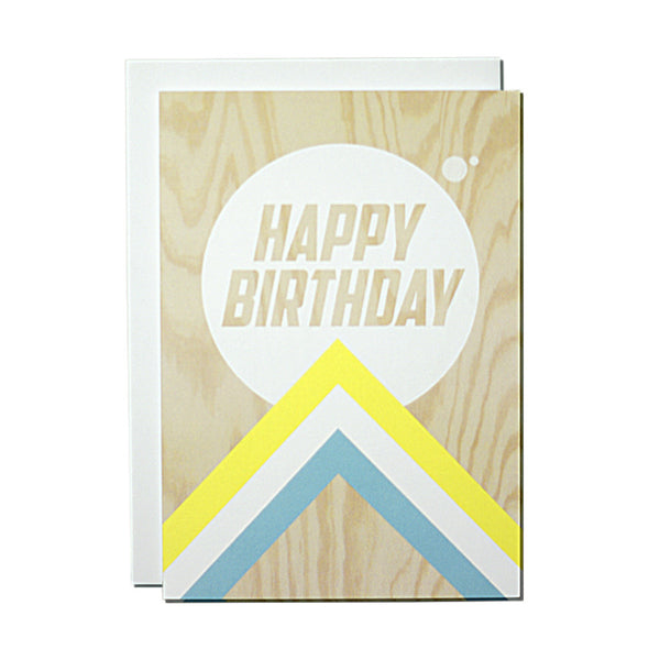 Plywood (happy birthday) card