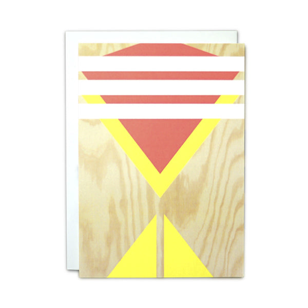 Plywood (white stripes) card