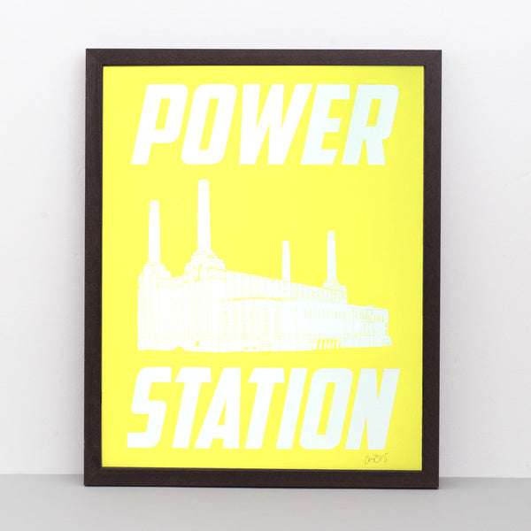 Battersea Power Station (white) screen print