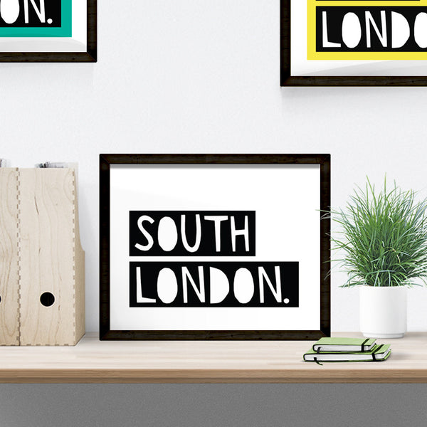 South London typographic print
