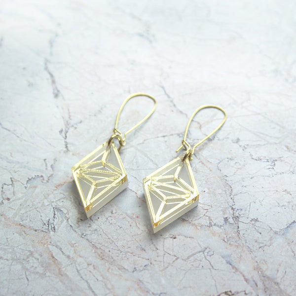 Gold Tetra earrings