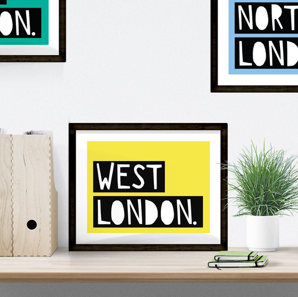 West London typographic print