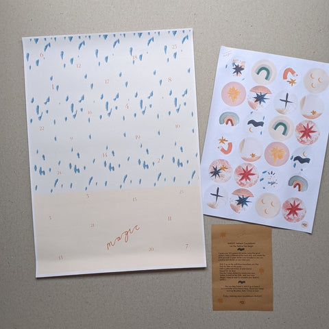 A3 Sticker Advent Calendar - The Stationery Cupboard