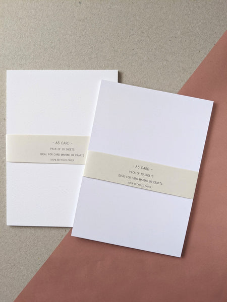 A5 card bundle - white - The Stationery Cupboard