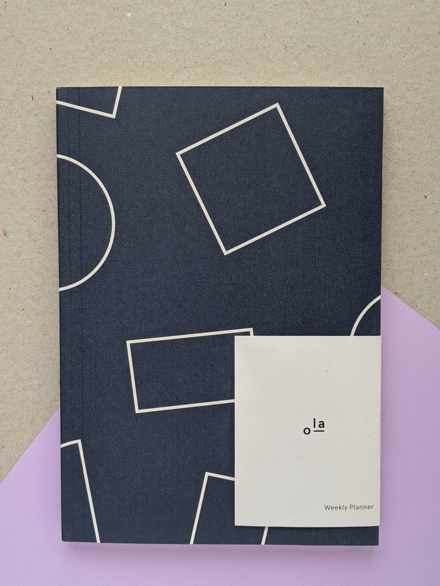 A5 layflat weekly planner- navy - The Stationery Cupboard