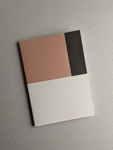 A5 Notebook, Colourblock Pattern, Ruled - The Stationery Cupboard