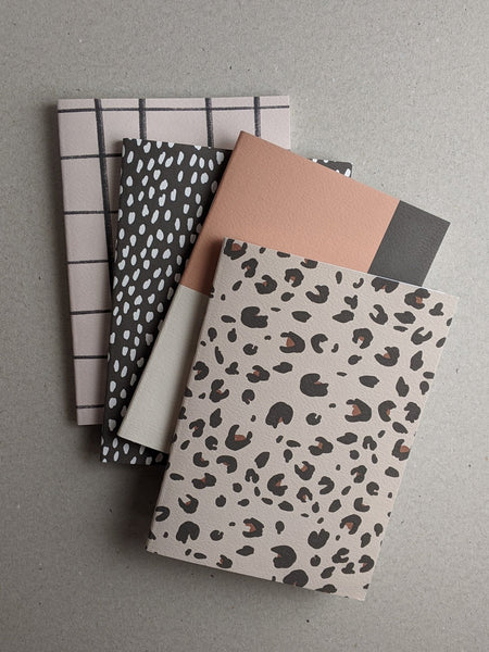 A5 Notebook, Leopard Pattern, Ruled - The Stationery Cupboard