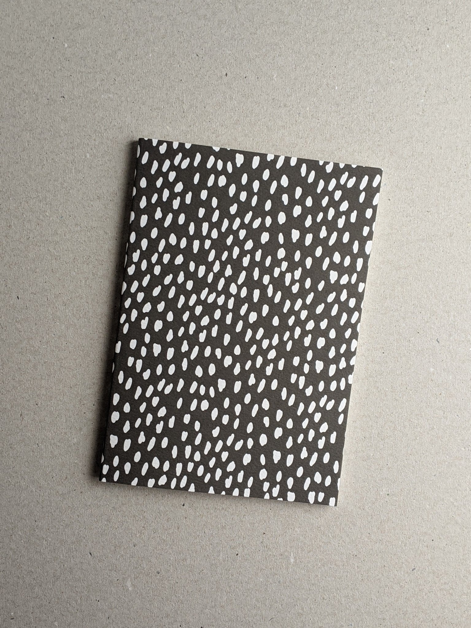 A5 Notebook, White Dash Pattern, Ruled - The Stationery Cupboard