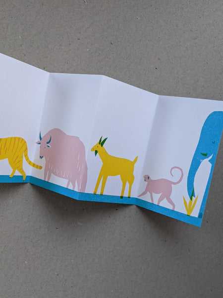 Animals on parade concertina book - The Stationery Cupboard