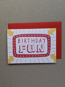 Birthday Fun Greetings Card - The Stationery Cupboard