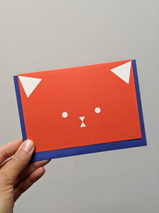 Cat face card - The Stationery Cupboard