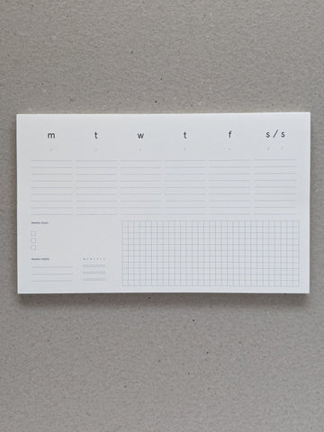 Desktop Pad - Weekly Planner - The Stationery Cupboard