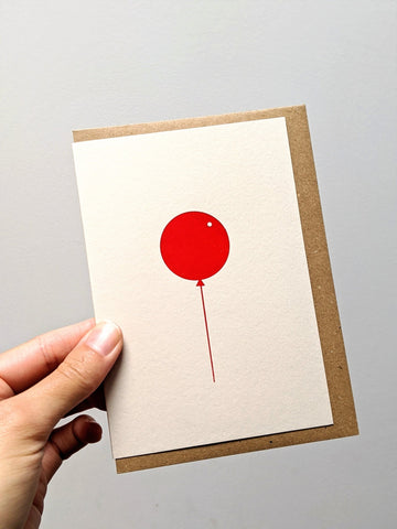 Foil blocked balloon card - The Stationery Cupboard