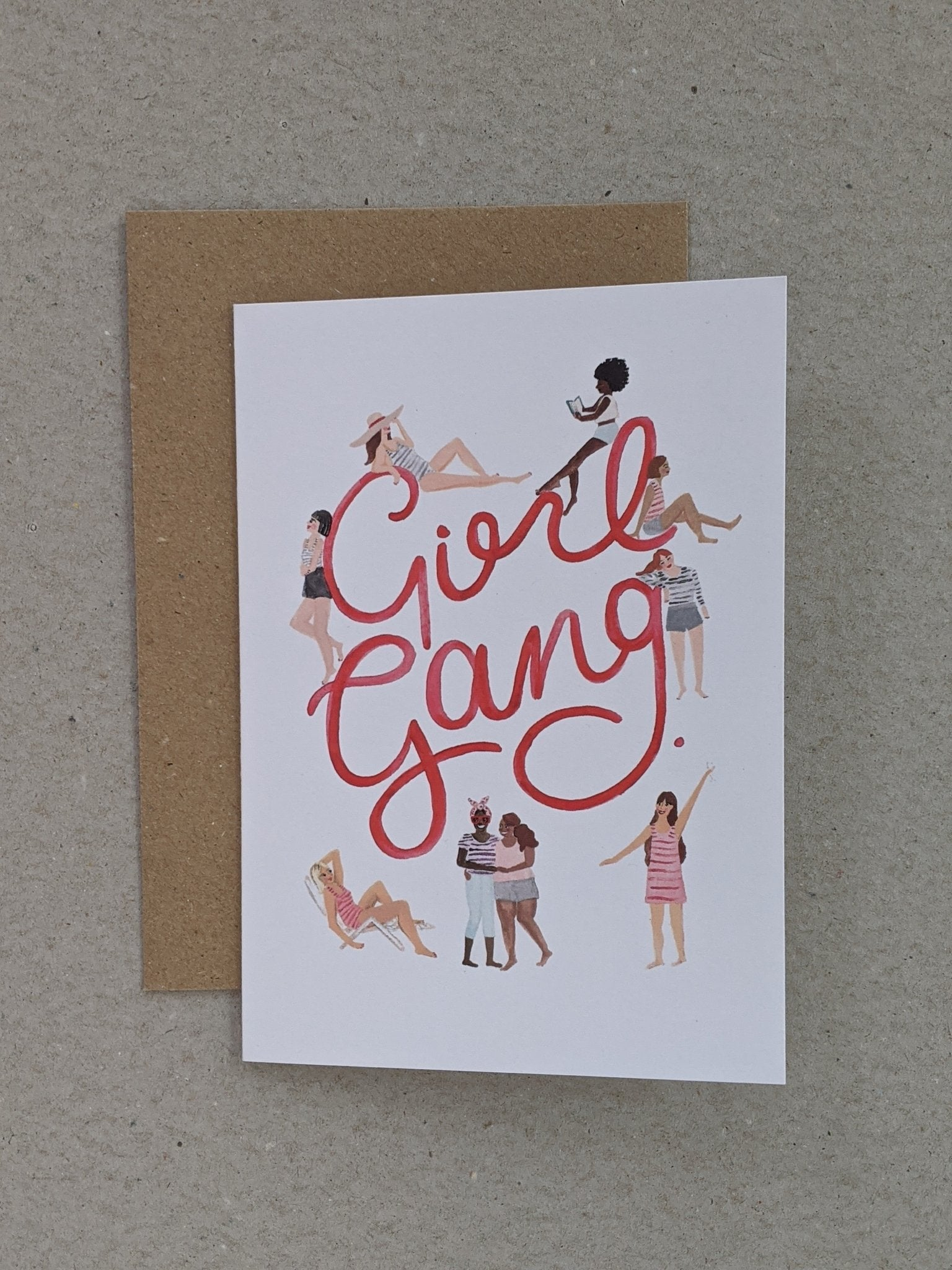 Girl Gang Greetings Card - The Stationery Cupboard
