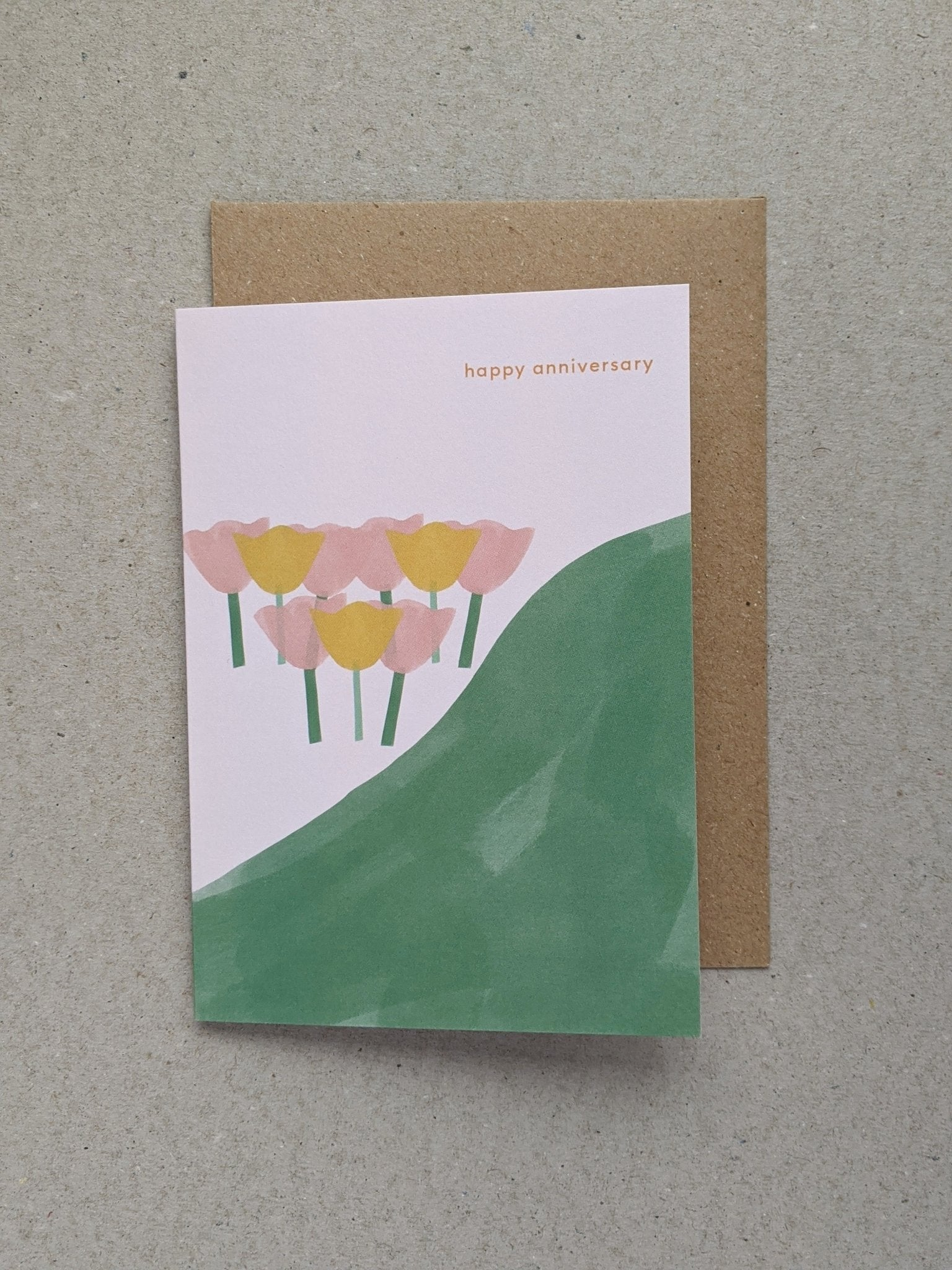 Happy Anniversary greetings card - The Stationery Cupboard