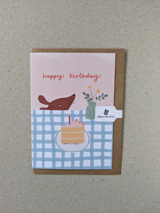 Happy Birthday greeting card - The Stationery Cupboard