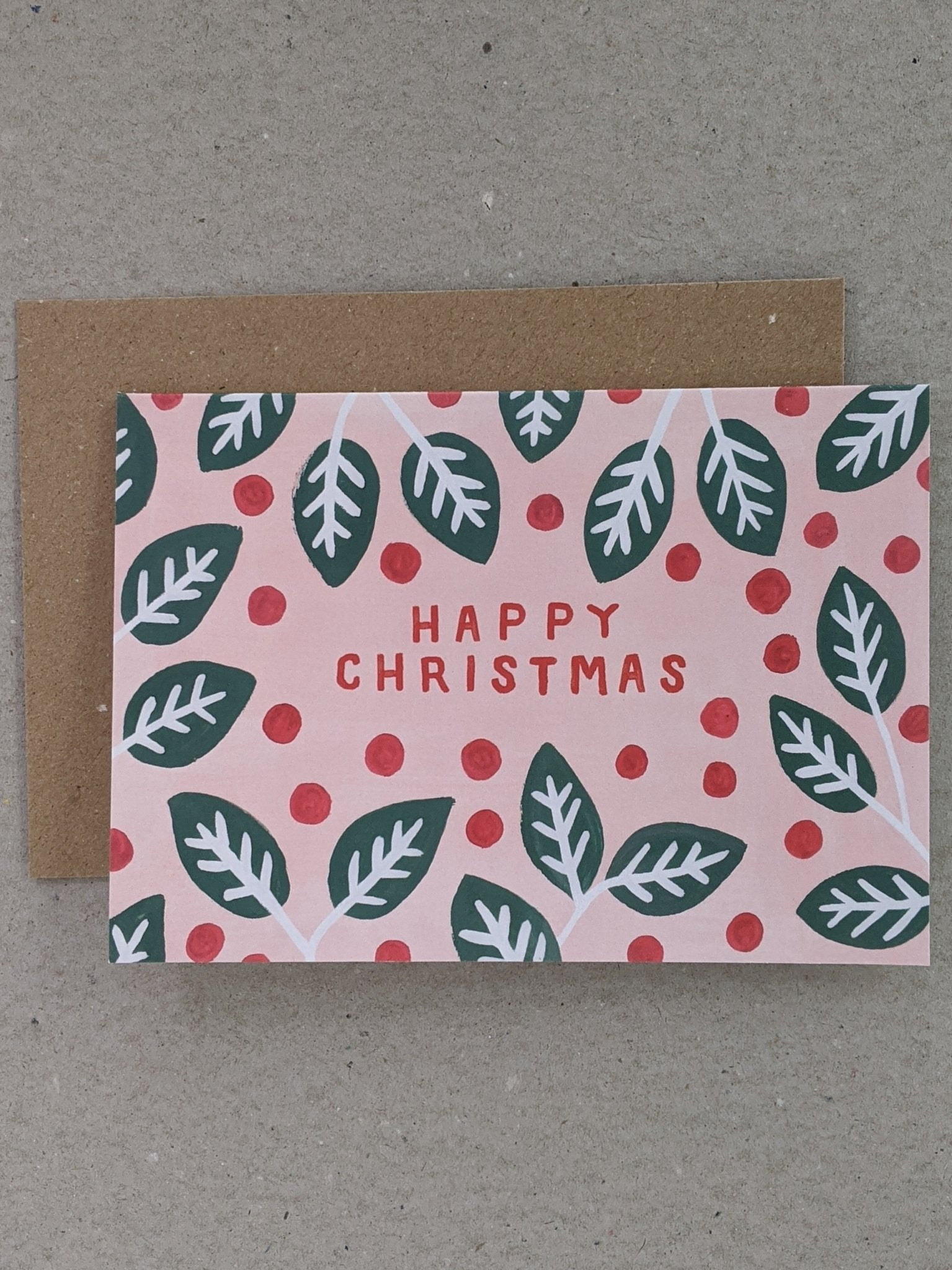 Happy Christmas Greeting Card - The Stationery Cupboard