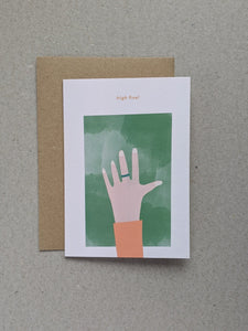 High Five celebration greetings card - The Stationery Cupboard